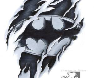 batman, drawin, and tattoos designs image