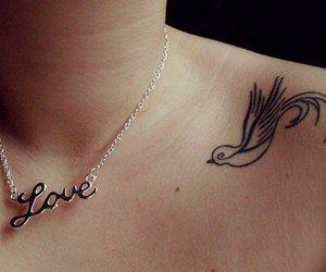 tattoo, love, and bird image