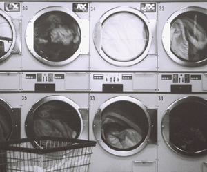 black and white, laundry, and vintage image