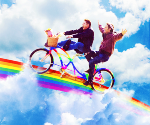supernatural, rainbow, and winchester image