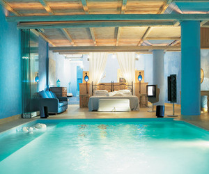 pool, bedroom, and room image