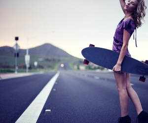 girl, skate, and street image
