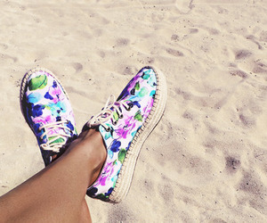 summer, beach, and shoes image