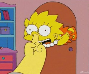 lisa, simpsons, and funny image