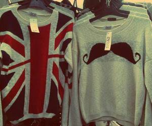 sweater, mustache, and moustache image