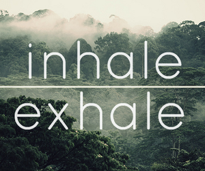 exhale, inhale, and nature image