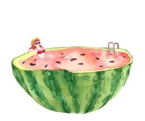 watermelon, drawing, and art image