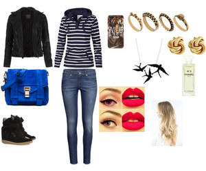 bag, blond, and blue image