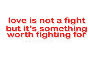 fight, typography, and love image