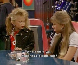 full house, madonna, and 90s image