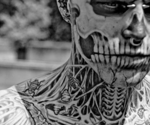 tattoo, rick genest, and zombie boy image