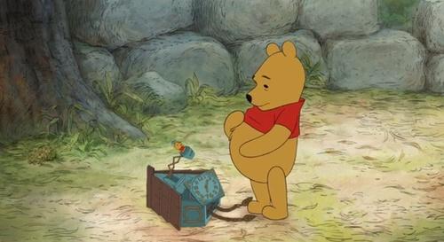 cartoon, clock, and winnie the pooh image