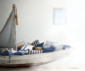 boat, nautical, and pillow image