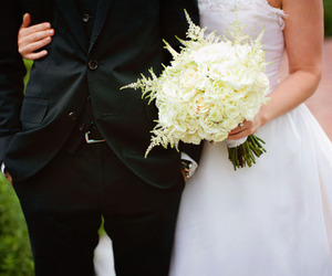 bride, happiness, and groom image