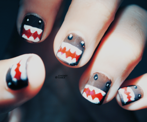 domo, monster, and nail art image