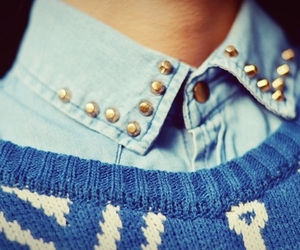 collar, jeans, and studs image