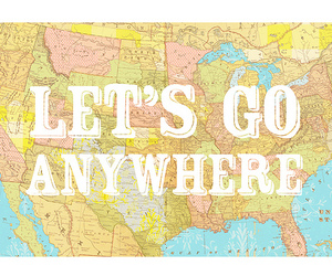 map, travel, and anywhere image