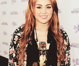 beautiful, miley, and never say never image