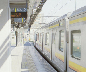 japan, station, and train image