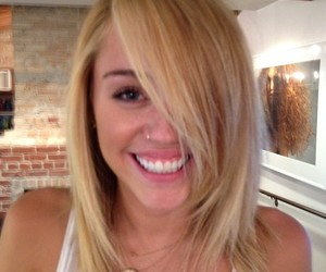 blonde and miley cyrus image
