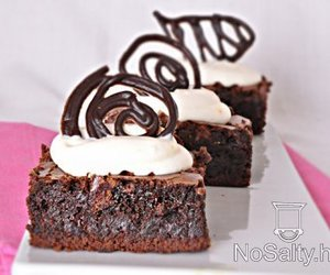 brownies, cake, and chocolate image