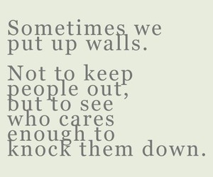 quote, wall, and care image