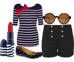blue, lipstick, and navy image