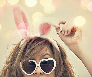 sunglasses, girl :), and beautiful.crazy.sweet image