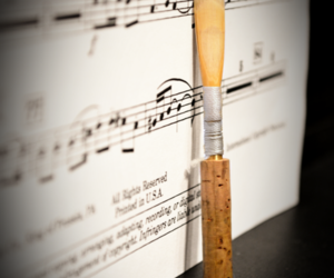 music, musician, and oboe reed image