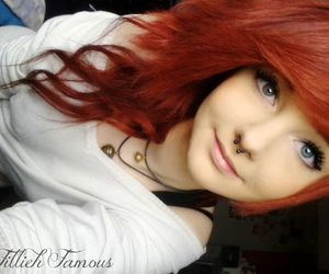 girl, cute, and red hair image