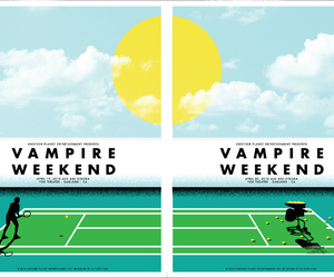 graphic design, vampire weekend, and gig poster image
