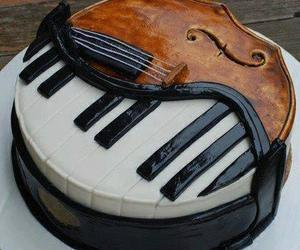 cake, foodporn, and music image