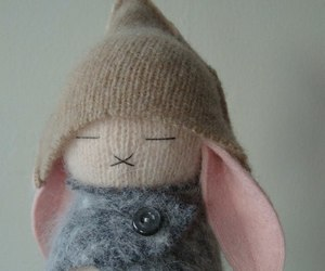 knitting, rabbit, and toy image