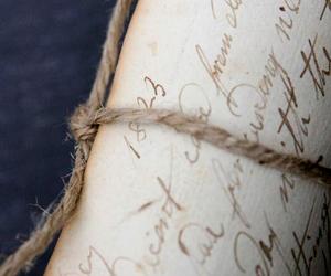 Letter and vintage image