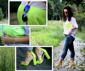 blogger, mirrored sunglasses, and shine accessories image