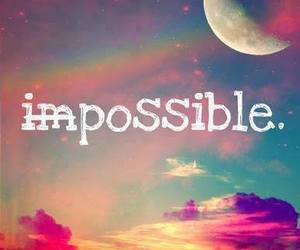possible, impossible, and moon image