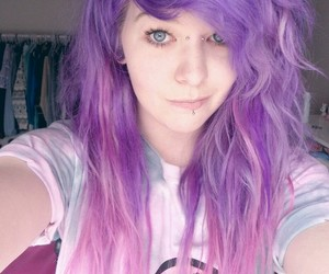 color hair and purple hair image