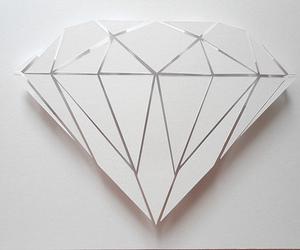 diamond, white, and art image