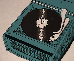 music, drawing, and record image