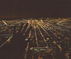 city, hand, and lights image