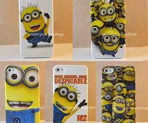 phone case, despicable me minions, and iphone5 image