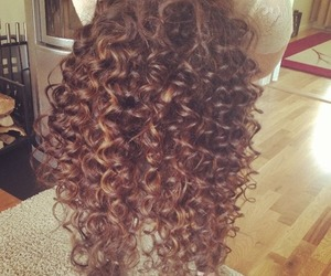 curls, nice, and hair image