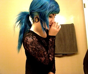 girl, alternative, and piercing image