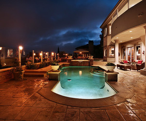 dream home and pool image