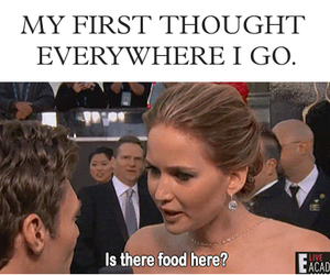 food, funny, and Jennifer Lawrence image