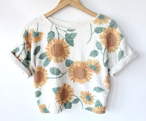 fashion, sunflower, and vintage image