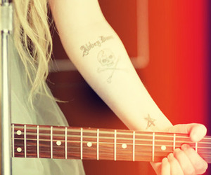 Avril, girl, and guitar image