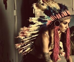 beautiful, Tattoos, and pink chief hat image