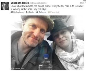 Elizabeth Banks, the hunger games, and woody harrelson image