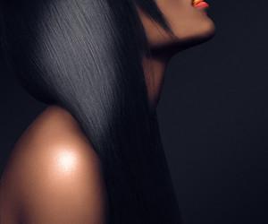 black woman, fashion, and cigarette image